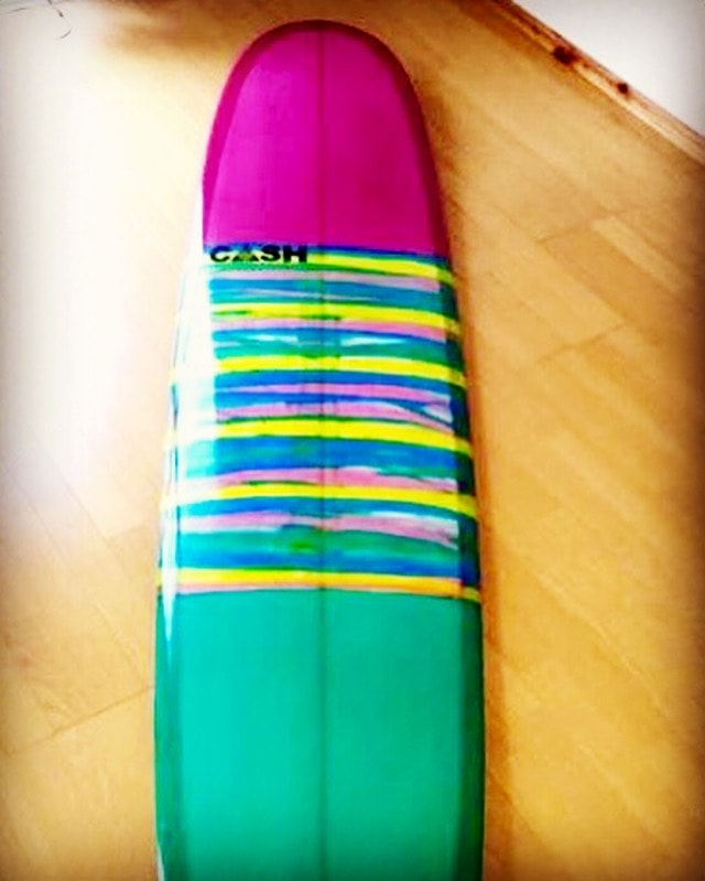 Cash Surfboard. so cute!